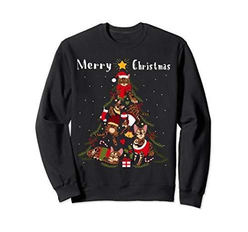 'Bengal Cat Christmas Tree Xmas Cat Lover' Sweatshirt
