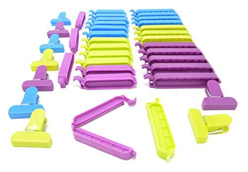 Clips de sellado de bolsas de plástico, mantener la comida fresca durante más tiempo, 29 piezas