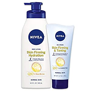 Beauty Shopping NIVEA Skin Firming Variety Pack with 16.9 Fl Oz Body Lotion and 6.7 Oz Gel-Cream