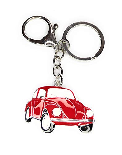FizzyButton Gifts enamel red car handbag charm keyring key ring with lobster clasp