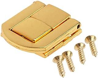 ianqujiangxinqujianjunbaih Antique Box Buckle 1Pc Antique Bronze/Gold-Schmuck-Kasten Wein Holzkiste Fall Toggle Latch Haspe Lederhandtasche Verschluss w/Schraube 25x20mm Color : Gold