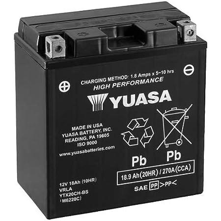 Batterie Yuasa Ytx20ch Bs Cp Agm Geschlossen 12v 18ah Cca 270a 150x87x161mm Auto