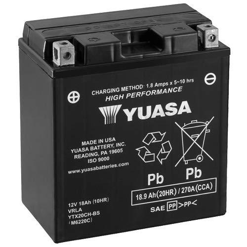 Batterie YUASA YTX20CH-BS (CP) AGM geschlossen, 12V|18Ah|CCA:270A (150x87x161mm) für Moto Guzzi Breva 1100 Baujahr 2008