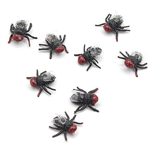 YaptheS 10pcs Gefälschte Fliegen Simulierte Insekt Witz Spielzeug Prank Fliegen Spielzeug für Halloween