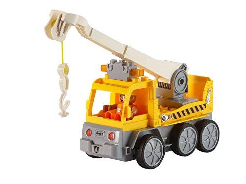 RC Auto kaufen Baufahrzeug Bild 6: Revell Control Junior RC Car Kranwagen - ferngesteuertes Baufahrzeug mit 27 MHz Fernsteuerung, kindgerechte Gestaltung, ab 3, zum Bauen und Spielen, mit Spielfigur, LED-Blinklichtern - 23002*