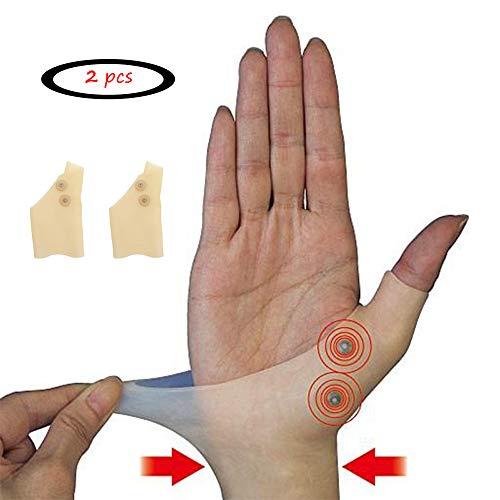 JK Guantes de terapia para pulgar, muñequera, guantes de artritis, soporte de gel para dedos, terapia magnética, guantes de apoyo para pulgar, gel de silicona