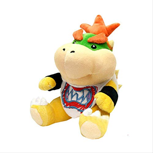 Wjfijz Super Mario Bowser Koopa Bowser Jr Jouets en Peluche en Peluche 18 cm, Dragon de feu Trucs en Peluche poupée Jouets Cadeaux pour Enfants A
