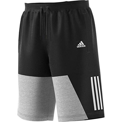 adidas Sport ID Color Block Short Pantaloncini, Black/Medium Grey Heather, XL Uomo