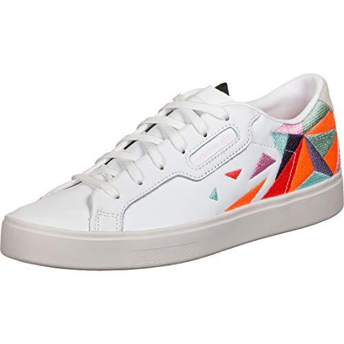 ADIDAS ORIGINALS Adidas Sleek W Zapatillas Moda Femmes Blanco/Multicolor - 36 - Zapatillas Bajas