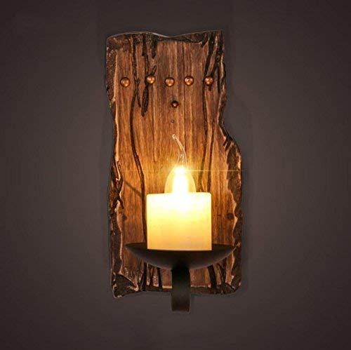 ZGQA-GQA Americano estilo retro LOFT madera sólida viento bar vela difusa restaurante callejón paso dormitorio lámpara de noche