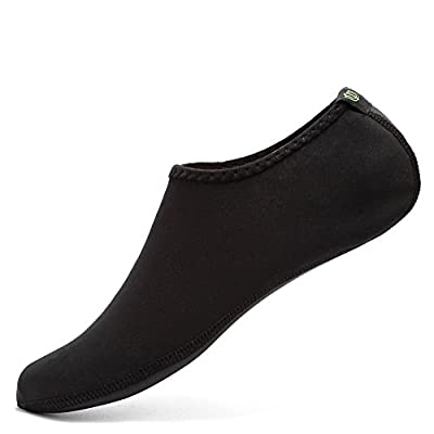 CIOR Water Skin Shoes Aauq Socks With New Upgraded Durable Outsole, M: US Women: 4.5-6 Big Kids: 3-4.5, Black