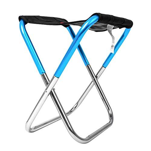 KQYAN Silla Plegable Portable de la Pesca heces Camping al Aire Libre Tren Silla de campaña en heces (Color: Azul) Facil de Instalar (Color : Blue)
