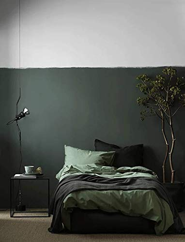 Solid Color Egyptian Cotton Duvet Cover Luxury Bedding Set High Thread Count Long Staple Sateen Weave Silky Soft Breathable Pima Quality Bed Linen (Queen, Khaki)