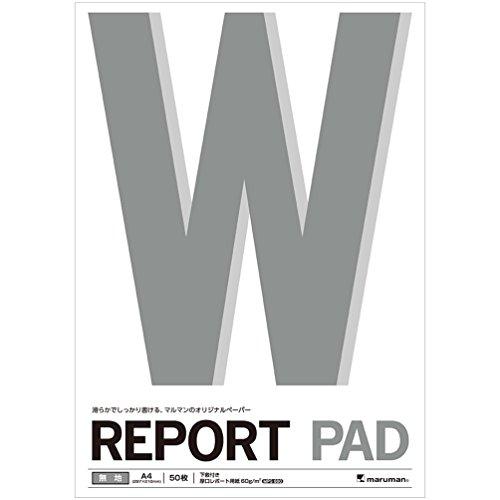 マルマン レポート用紙 レポートパッド 無地 A4 5冊セット P143A