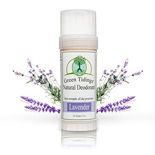 Green Tidings Natural Lavender Deodorant | Vegan, Organic Deodorant for Men and Women, Fragrance Free & Aluminum Free Deodorant, Underarm Antiperspirant 2.7 Oz 1 Pack