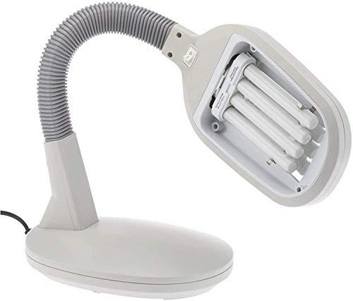 ARSUK®Schreibtischlampen, Lampenfüße, Tisch- & Nachttischlampen (Schreibtischlampen, Schreibtischlamp Grau mit 27w Glühlampe)