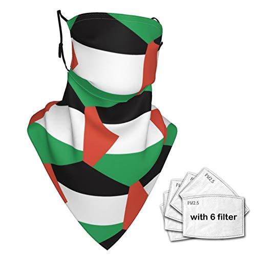 SD3DPrint - Funda de pasamontañas unisex para cuello o polaina de territorio palestino con Fiters