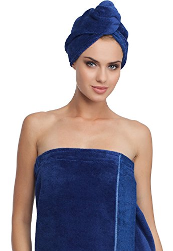 Merry Style Femme Turban 13007 (Bleu foncé/Bleu foncé, One Size)