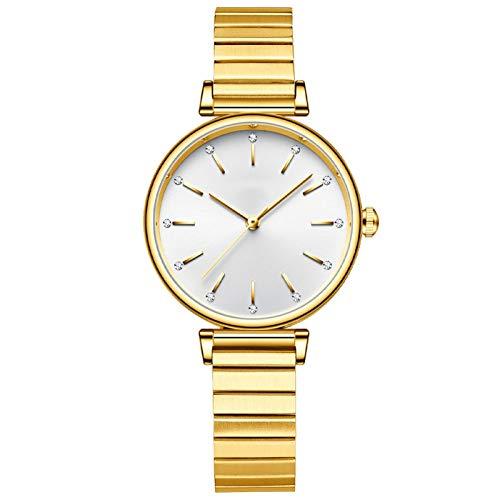 QHG Relojes de Mujer Reloj de Pulsera de Moda Lady Watch Girls Clock Vestido Femenino Vestido Sencillez Mark Movimiento de Cuarzo (Color : B)