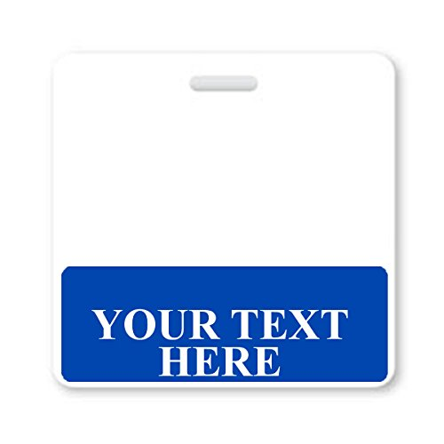 Blue Custom Printed Horizontal ID Badge Buddy Package of Six by Specialist ID