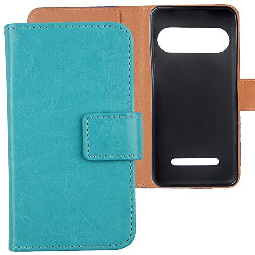 Lankashi Premium PU Leder Tasche Hülle Für Doro Liberto 8035 Handy Flip TPU Silikon Schale Brieftasche Schutz Hülle Cover Etui Schutzhülle Handyhülle Handytasche Handy Abdeckung (Blau)