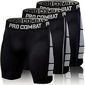 Men s Compression Shorts 3 Pack Quick Dry Sports Tight Shorts Soft Running Pants for Workouts Training Gym