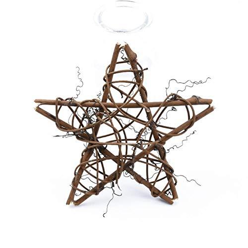 Gouen 10 15 20 cm kunstbloemen voor muur rotan ster frame kransen kerstversiering voor thuis handgemaakte deur opknoping bruiloft, 15 cm