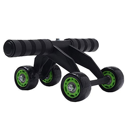 Great Price! lijunjp Fitness Abdominal Wheel Ab Roller, Black Ab Wheel Roller with 4 Wheels and Foam...