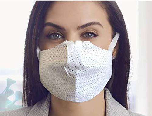 3er-Pack Mund und Nasenschutz, Mundschutz Maske in weiß | sehr leicht & weich, Keine erschwerte Atmung, Earloop-Design | reinigbar und wiederverwendbar, Behelfs-Maske