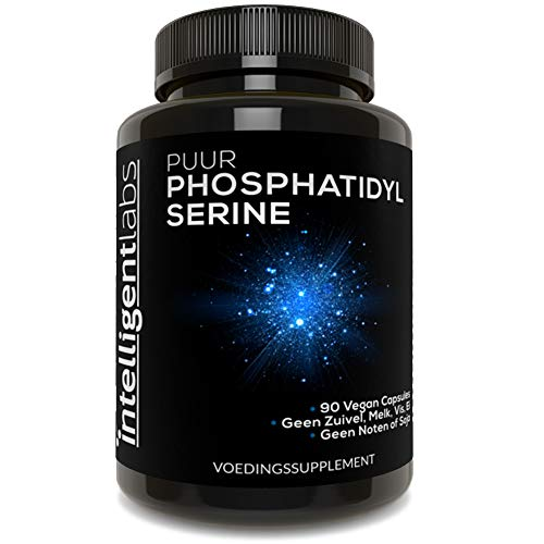 Intelligent Labs Fosfatidylserine 100 mg, 100% soja-vrije, zuivere fosfatidylserine van zonnebloemlecithine, 90 capsules per fles