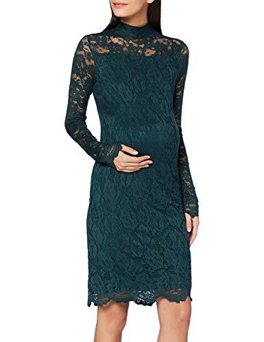 SUPERMOM Dress LS Lace Vestido, Ponderosa Pine/P276, S para Mujer
