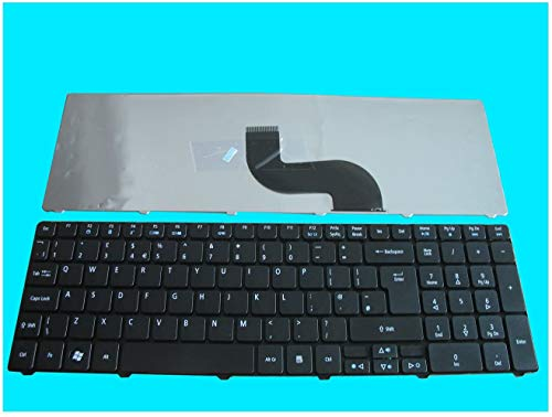 Replacement Laptop Keyboard for Acer Aspire 5253 5336 5551 5552 5733 5733z 5733z-4851 5742 5750 7551 5810 Series UK Layout Black