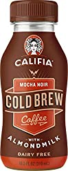 Califia Farms Mocha Noir Cold Brew Coffee with Almondmilk, 10.5 Oz | Dairy Free | Plant Based | Nut