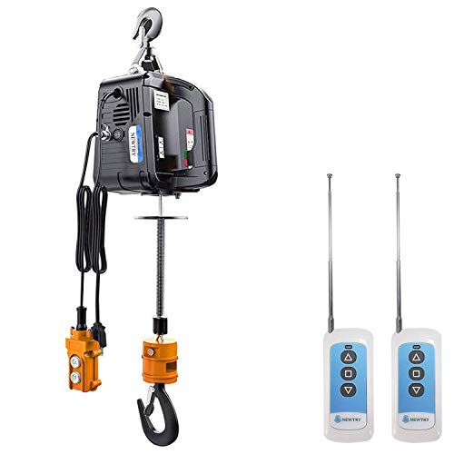 NEWTRY 3 in 1 Electric Hoist Winch with 2 Wireless Remote Control