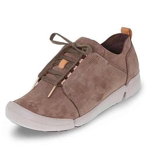 Clarks Damen Tri Bella Sneaker, Grau (Grey Combi), 37 EU