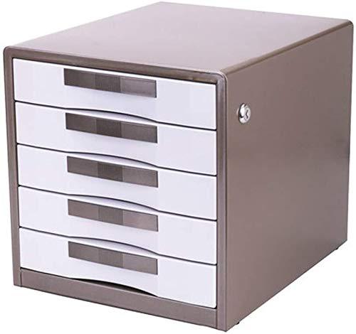 LIUYULONG Armario de almacenamiento de archivos, con cerradura, diseño cómodo de tirar, elegante, de moda, para oficina, 30 x 35 x 30,8 cm, caja de archivos (color: marrón)