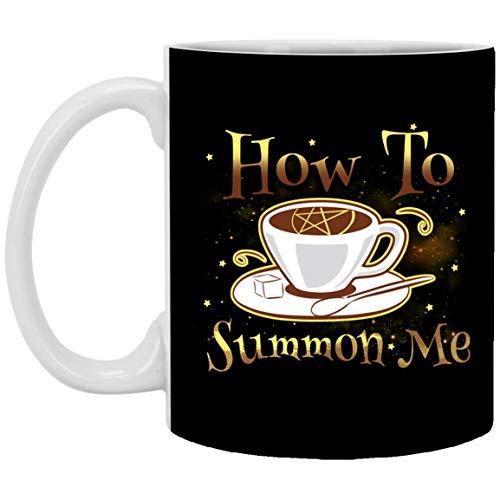 aza de café de cerámica del regalo de How To Summon Me Halloween - B_E_E_R Stein - Botella de agua - Color que cambia y Hellip; Botella de agua de la taza de cerámica del viaje que acampa 11oz