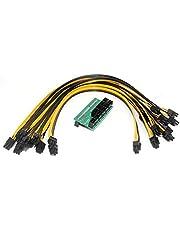 Espeedy Tablero de conversión,DPS-1200FB/QB una fuente de alimentación tablero de Breakout + 10 pines cable 6 para minería Ethereum