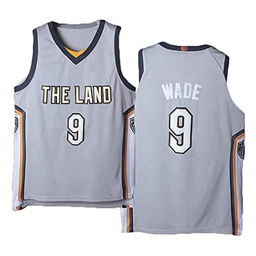 XSJY Jersey Men's NBA Cavaliers 9# Wade Baloncesto Entrenamiento Ropa Deportes Y Ocio Secado Rápido Vestido Sin Mangas Transpirable,A,L:175~180cm/75~85kg