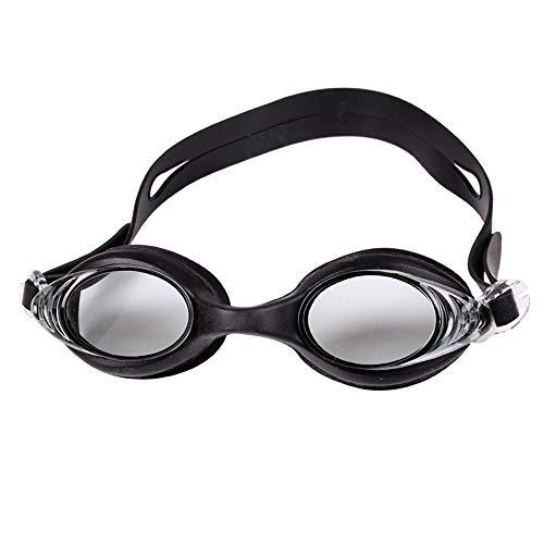 MDYHJDHYQ Goggles Schwimmbrille for Damen Herren Wettkampf Schwimmbrille ohne undichte Stellen Anti Fog UV 400 Protection Clear Vision (Color : Schwarz, Size : Kostenlos)