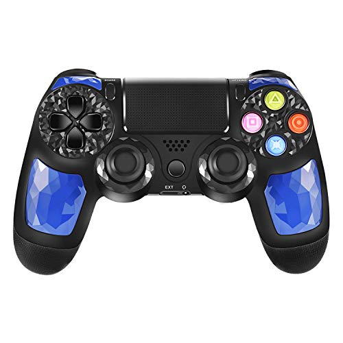 PS4 Controller ORDA Wireless Gamepad for Playstation 4/Pro/Slim/PC/Smart TV and Laptop with Vibration and Audio Function, Package Included USB Cable - Blue