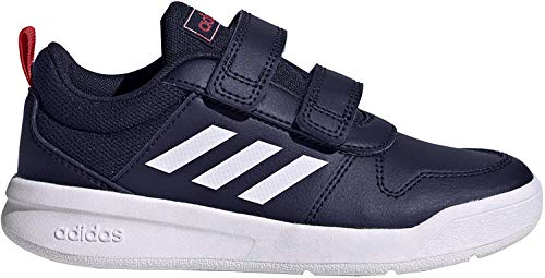 adidas Unisex-Child Tensaur Road Running Shoe, Dark Blue/Footwear White/Active Red, 31 EU