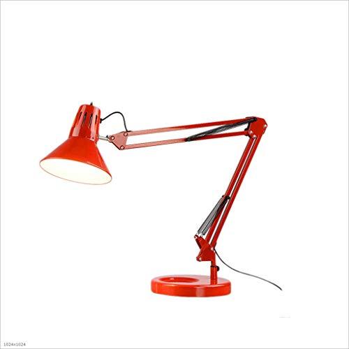 HUANGDA Style minimaliste moderne lampe de table en fer forgé bureau réglable protection des yeux lampe d'économie d'énergie famille étude chambre chevet lampe de table pliante ( Color : Black )