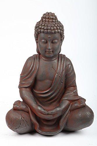 point-garden Budda seduto statua da giardino 41 cm nuovo