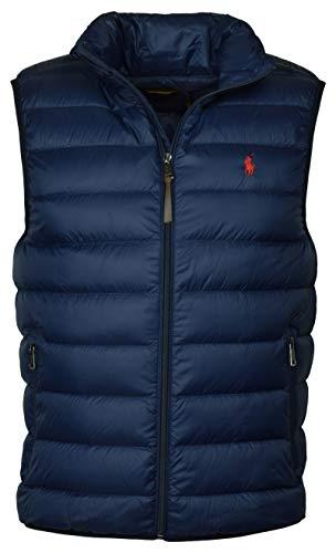 Polo Ralph Lauren Mens Full Zip Puffer Vest (X-Large, Aviator Navy)