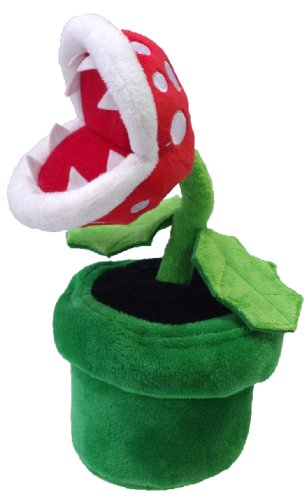 "Little Buddy Official Super Mario Plush - 9"" Piranha Plant"
