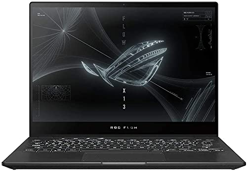 ASUS ROG Flow X13 Ryzen 7 Octa Core 5800HS (16 GB/1 TB SSD/Windows 10 Home/4 GB Graphics/NVIDIA GTX 1650/120 Hz) GV301QH-K6463TS 2 in 1 Gaming Laptop (13.4 inches, Off Black, 1.30 kg, with MS Office)
