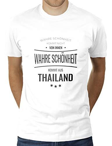 La verdadera belleza proviene de Tailandia, no desde el interior, Tailandia, Tailandia, camiseta para hombre de KaterLikoli. Blanco XXL