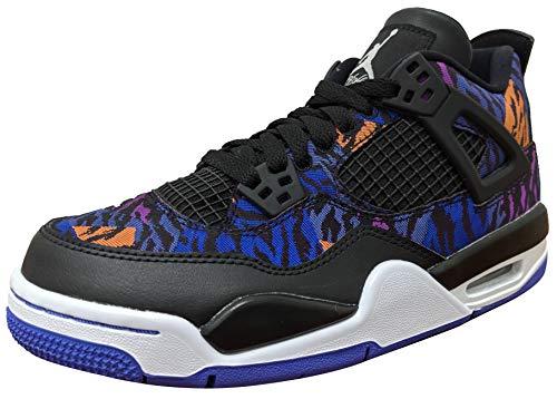 Nike Air Jordan 4 Retro Se (Gs) - black/white-rush violet-racer blue, Größe:5.5Y