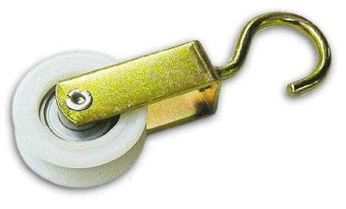 Polea Tendedero con rueda de nylon mide 50 mm Paquete. 12 piezas